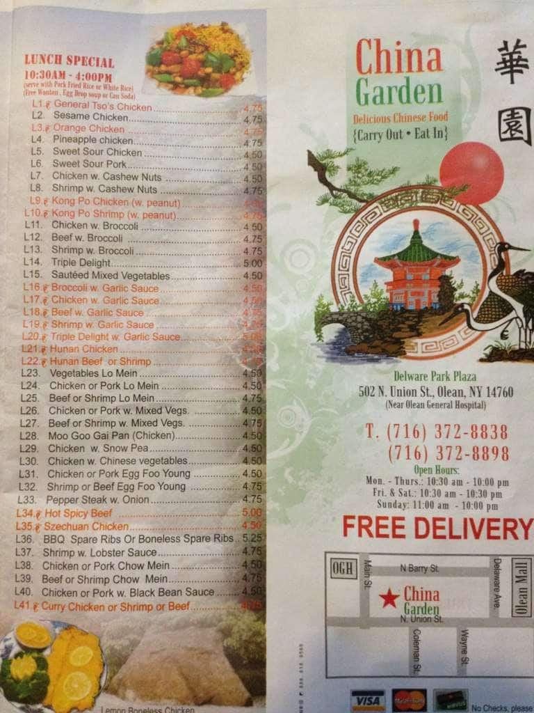 china garden menu menu for china garden olean olean urbanspoon zomato