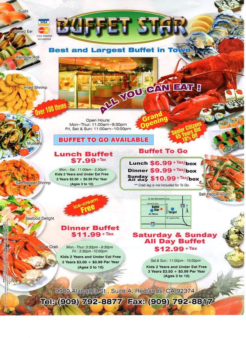 buffet star menu menu for buffet star redlands inland empire rh zomato com buffet star menu hampton va buffet star menu redlands