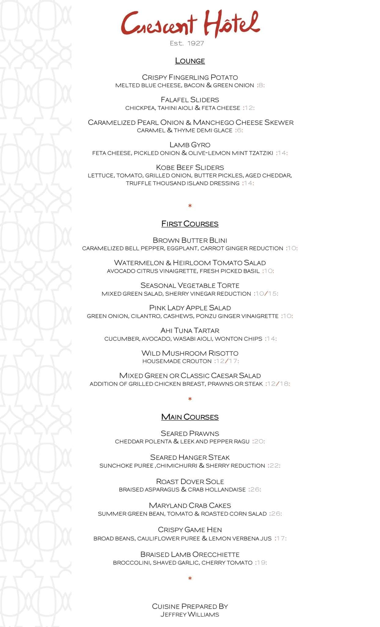 The terrace menu menu for the terrace beverly hills los for The terrace restaurant menu