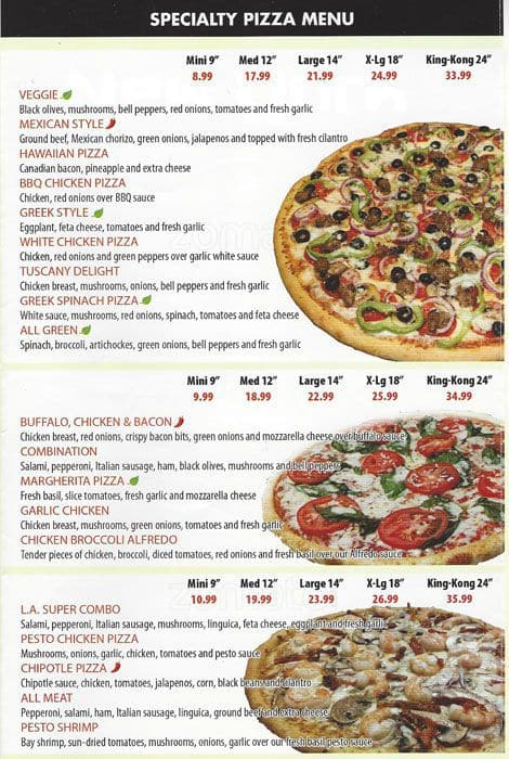 Round Table Pizza Menu Menu For Round Table Pizza San Carlos San - Round table pizza menu prices