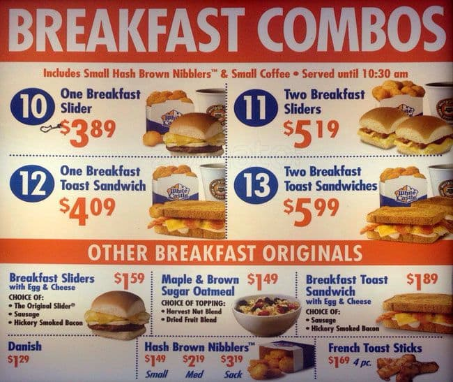 Chick-Fil-A Breakfast Menu Items. Fans of Chick-Fil-A can now have their fill of breakfast with a little more variety. While chicken is ever-present, so are biscuits, sausage, and bacon.