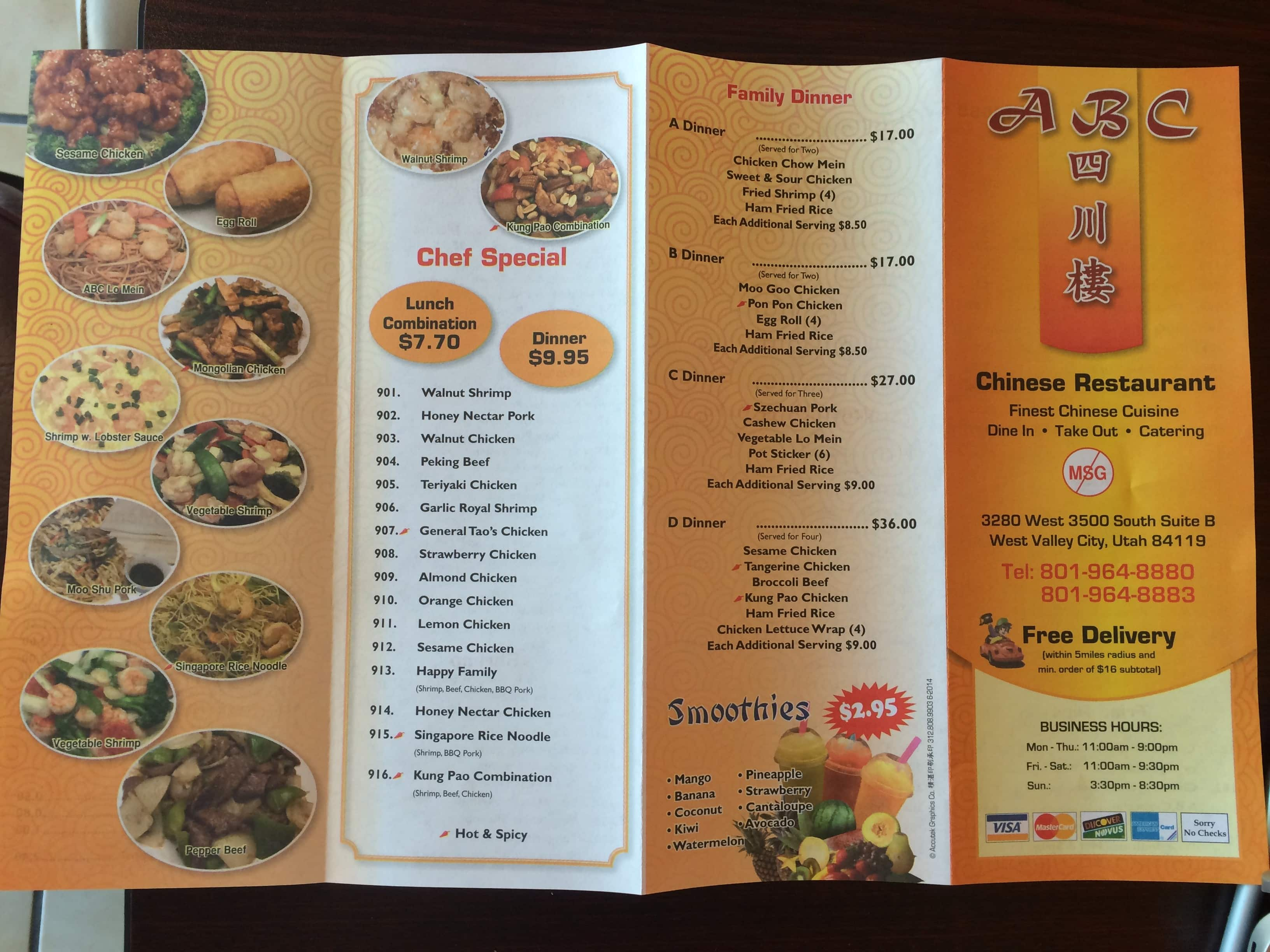 Chinese Food Delivery West Valley