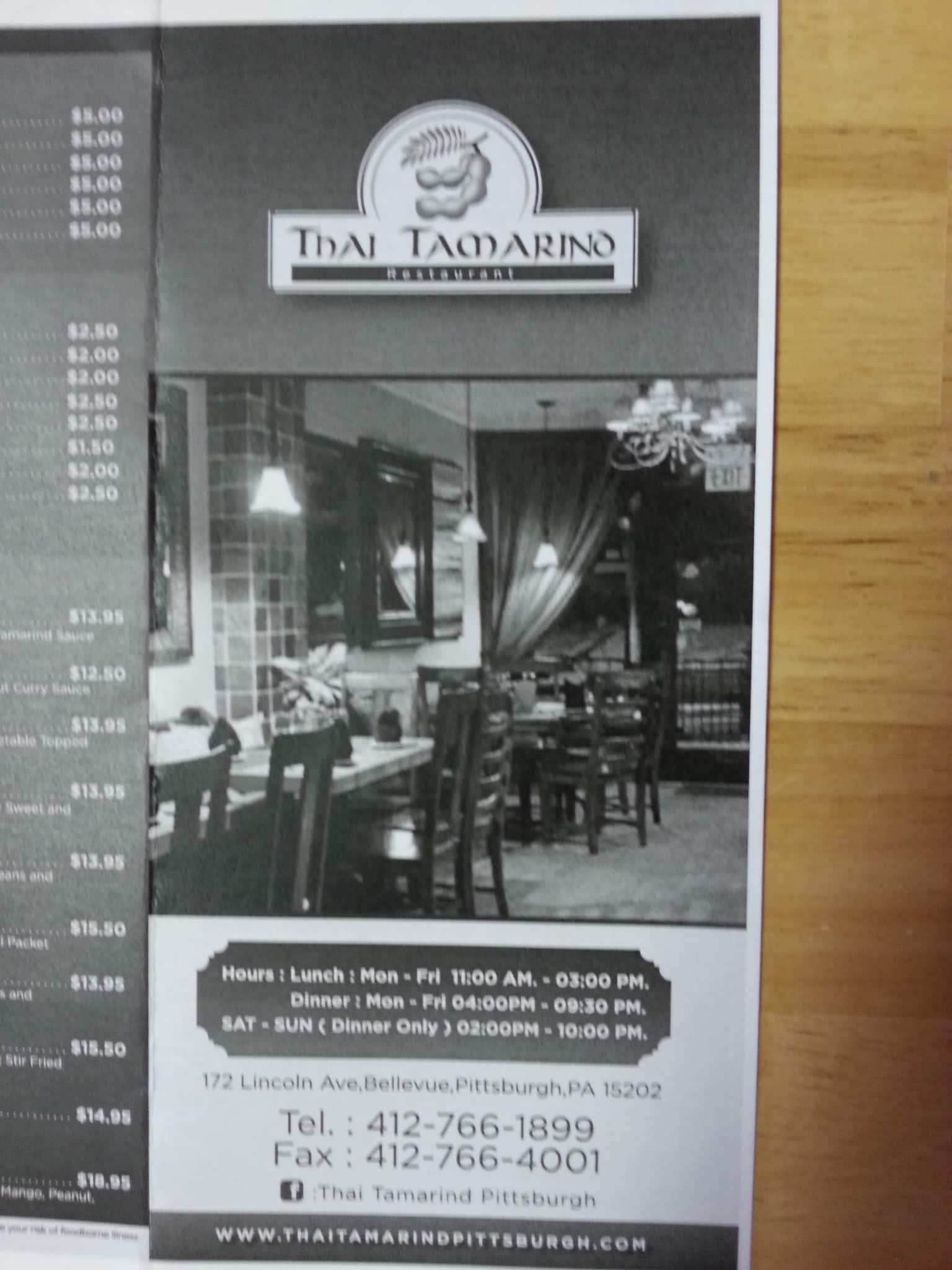 thai tamarind bellevue pittsburgh urbanspoon zomato