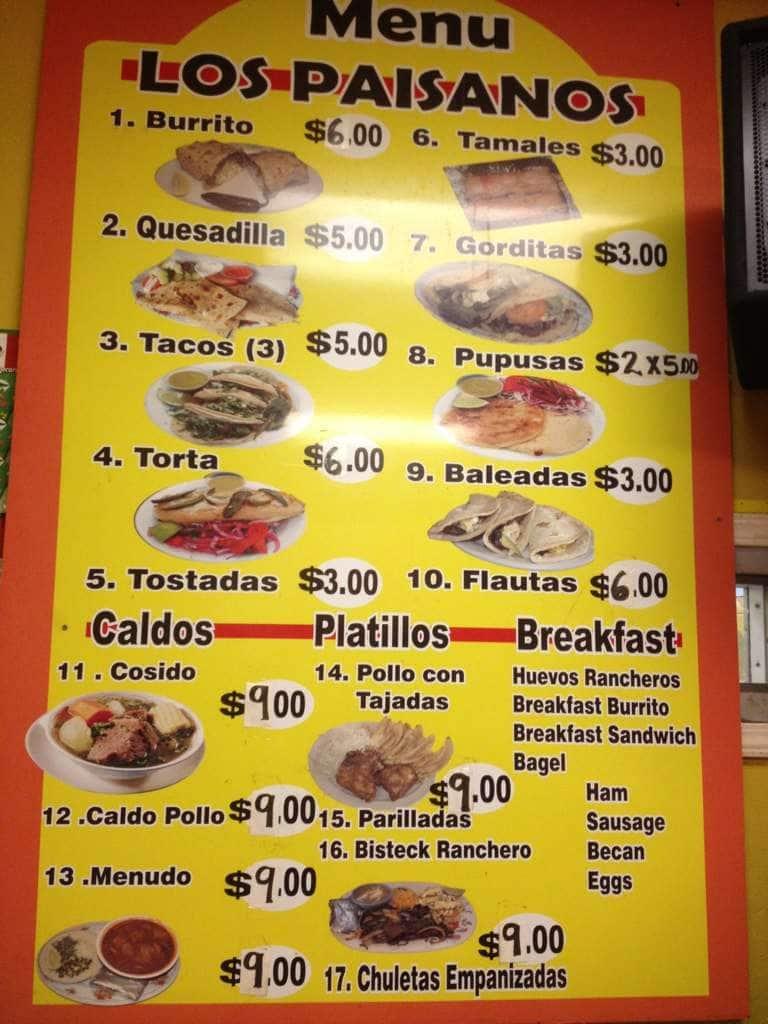 Paisanos Near Me >> Los Paisanos Menu Menu For Los Paisanos Gretna New Orleans
