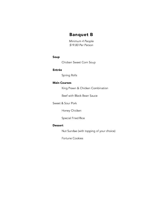 Menu at Kowloon Kitchen, 16-18 Washington Street - Restaurant prices