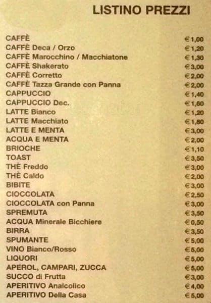 Pasticceria Ranieri a Milano: Foto del Menu con Prezzi - Zomato Italia