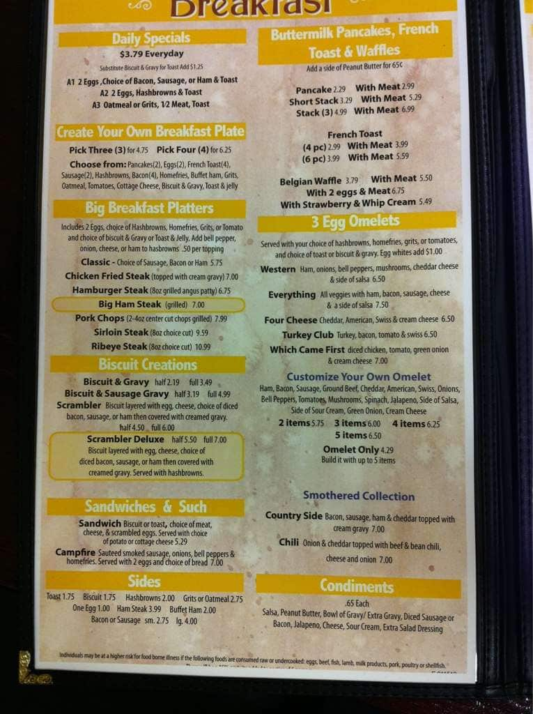 Katie S Country Griddle West Edmond Menu