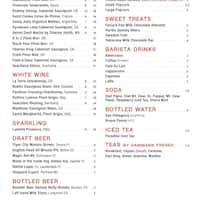 Scanned Menu For Living Room Theaters Restaurant
