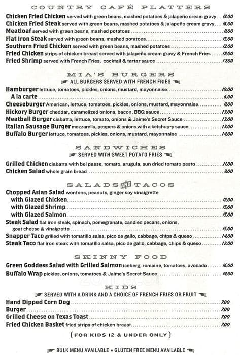 mia's table menu, menu for mia's table, upper kirby, houston