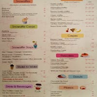Scanned menu for Ice Candy Restaurant
