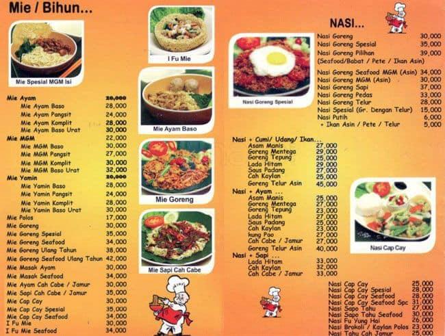 Mgm resto menu menu for mgm resto kebayoran lama for The food bar zomato