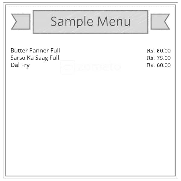 Menu for Apna Kitchen, Ranjeet Hanuman