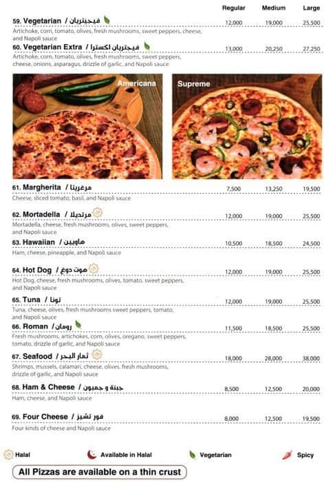 Pizza Napoli Menu Menu For Pizza Napoli Jbeil Jbeil District