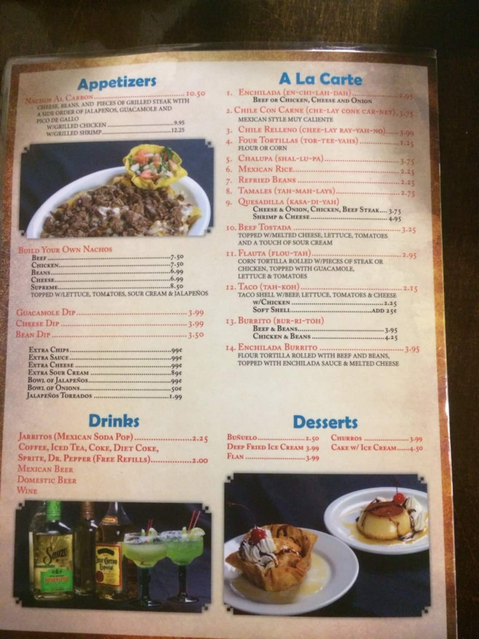 El agave mexican restaurant menu urbanspoon zomato for Agave mexican cuisine