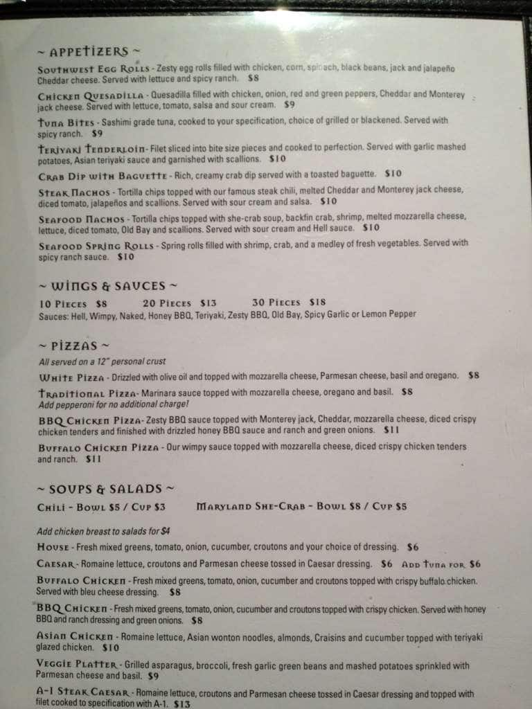 hells kitchen downtown norfolk menu - Hells Kitchen Menu