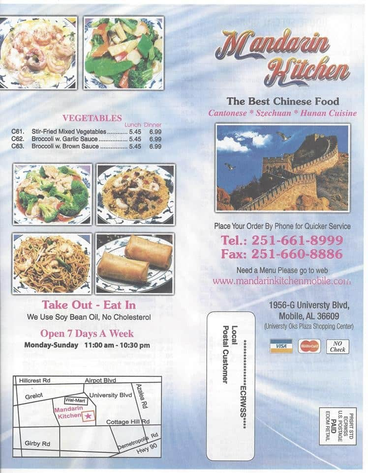Mandarin Kitchen Menu, Menu For Mandarin Kitchen, Mobile, Mobile