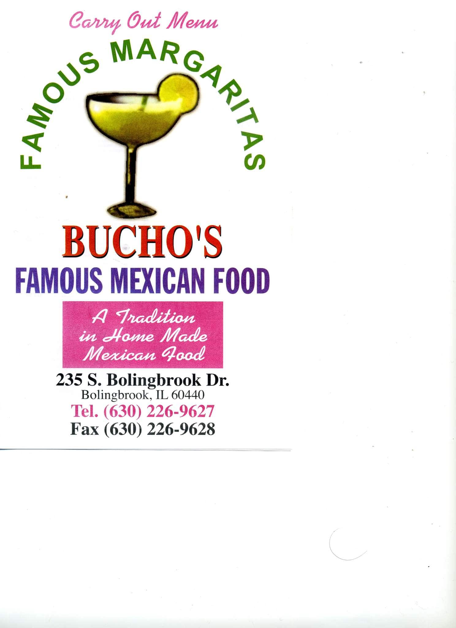 Bucho S Mexican Restaurant Menu Urbanspoon Zomato