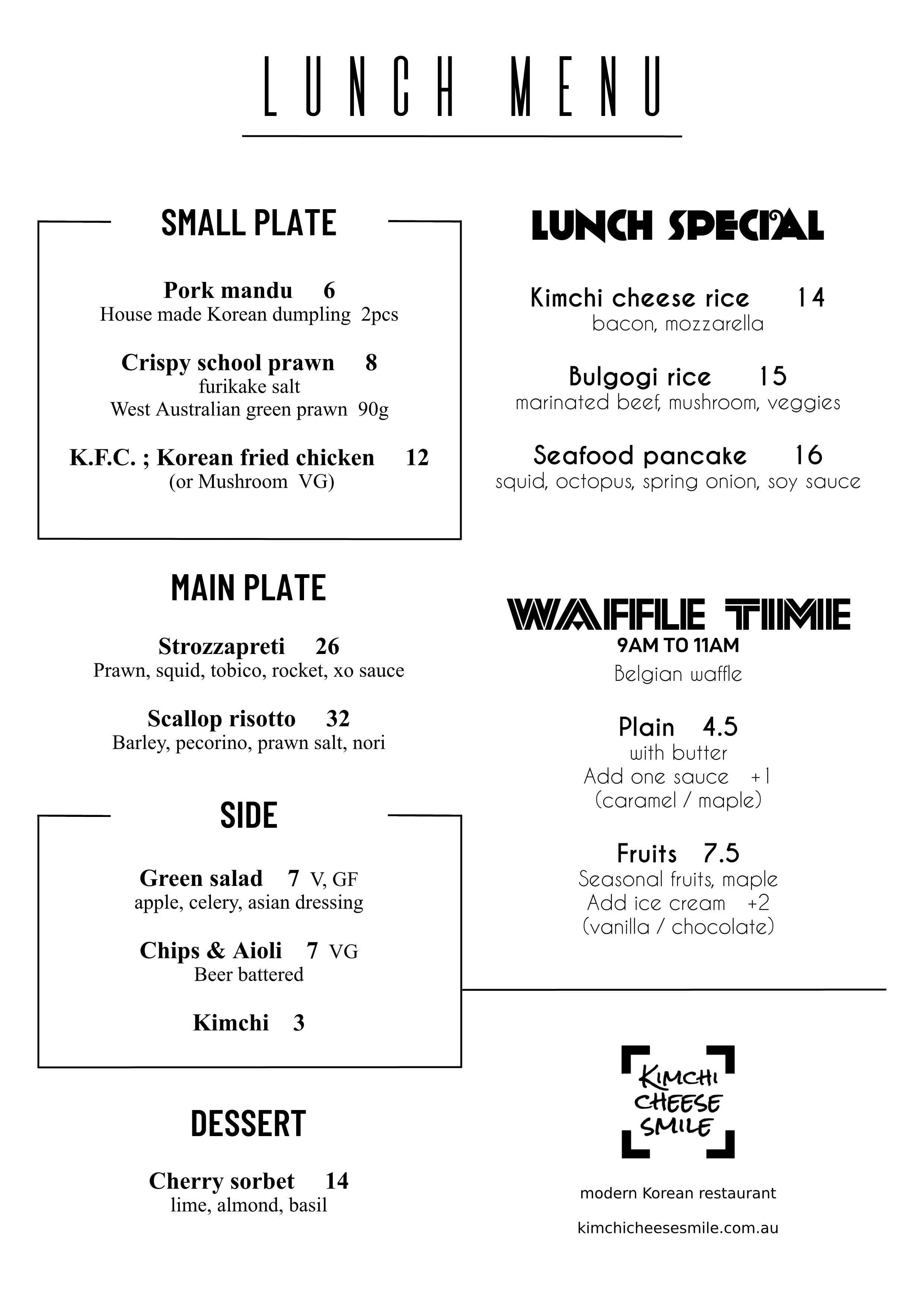 kimchi cheese smile menu menu for kimchi cheese smile