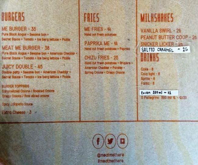 Meet me there burger dubai number