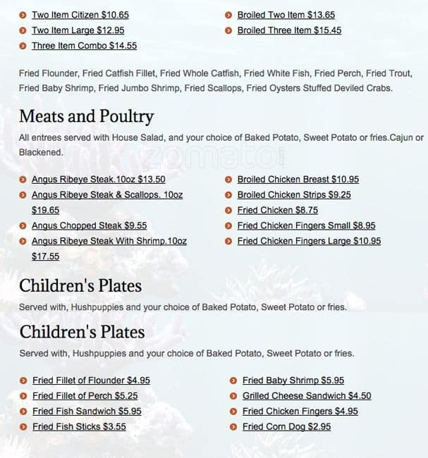 Mayfair monroe nc menu