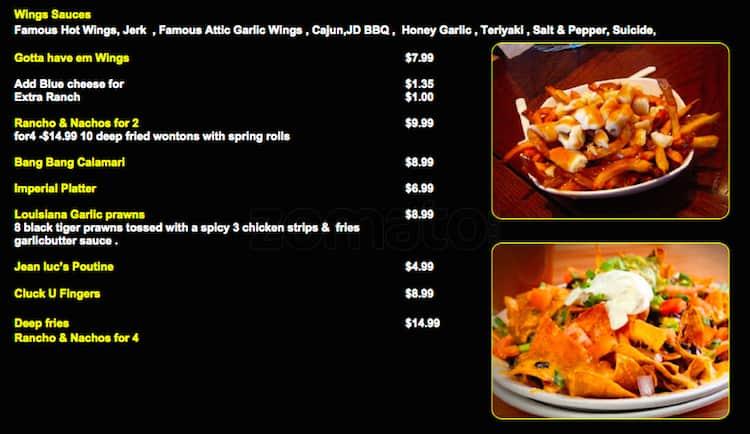 The attic bar lounge menu urbanspoon zomato for The food bar zomato