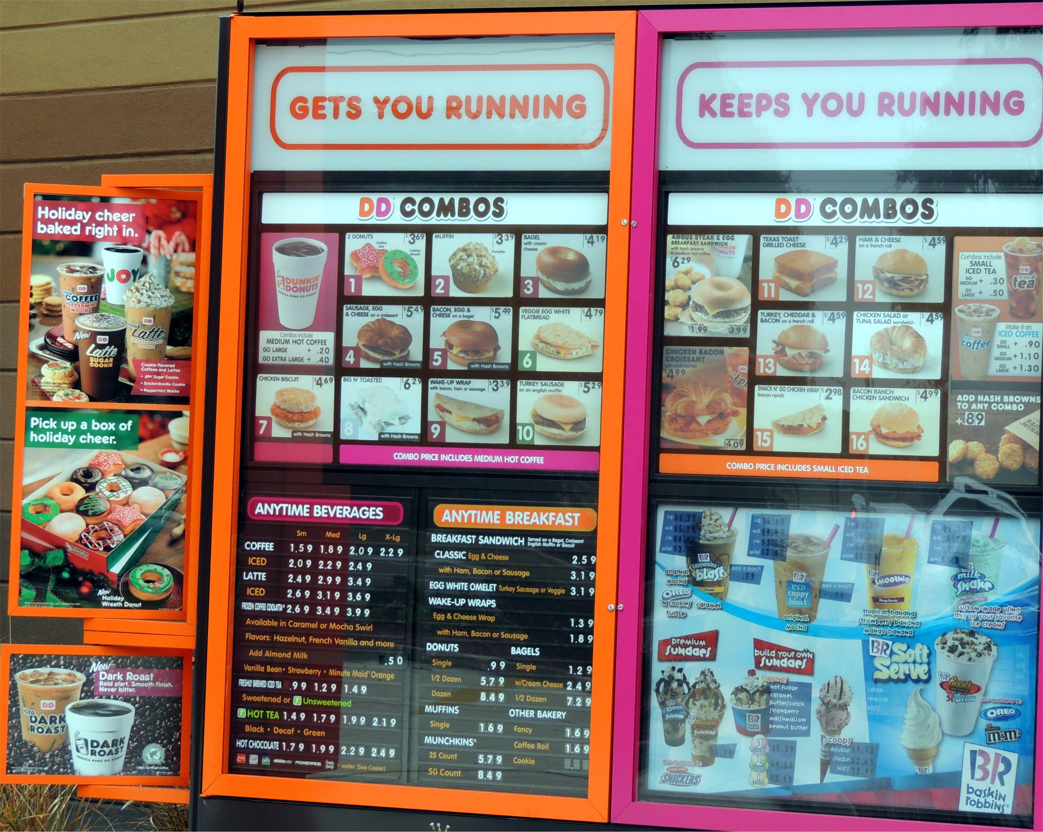 Dunkin' Donuts Menu, Menu for Dunkin' Donuts, Arlington ...