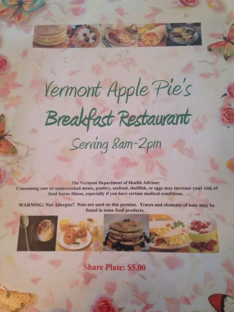 VT Apple Pie & CheeseCake Bakery Restaurant Menu ...