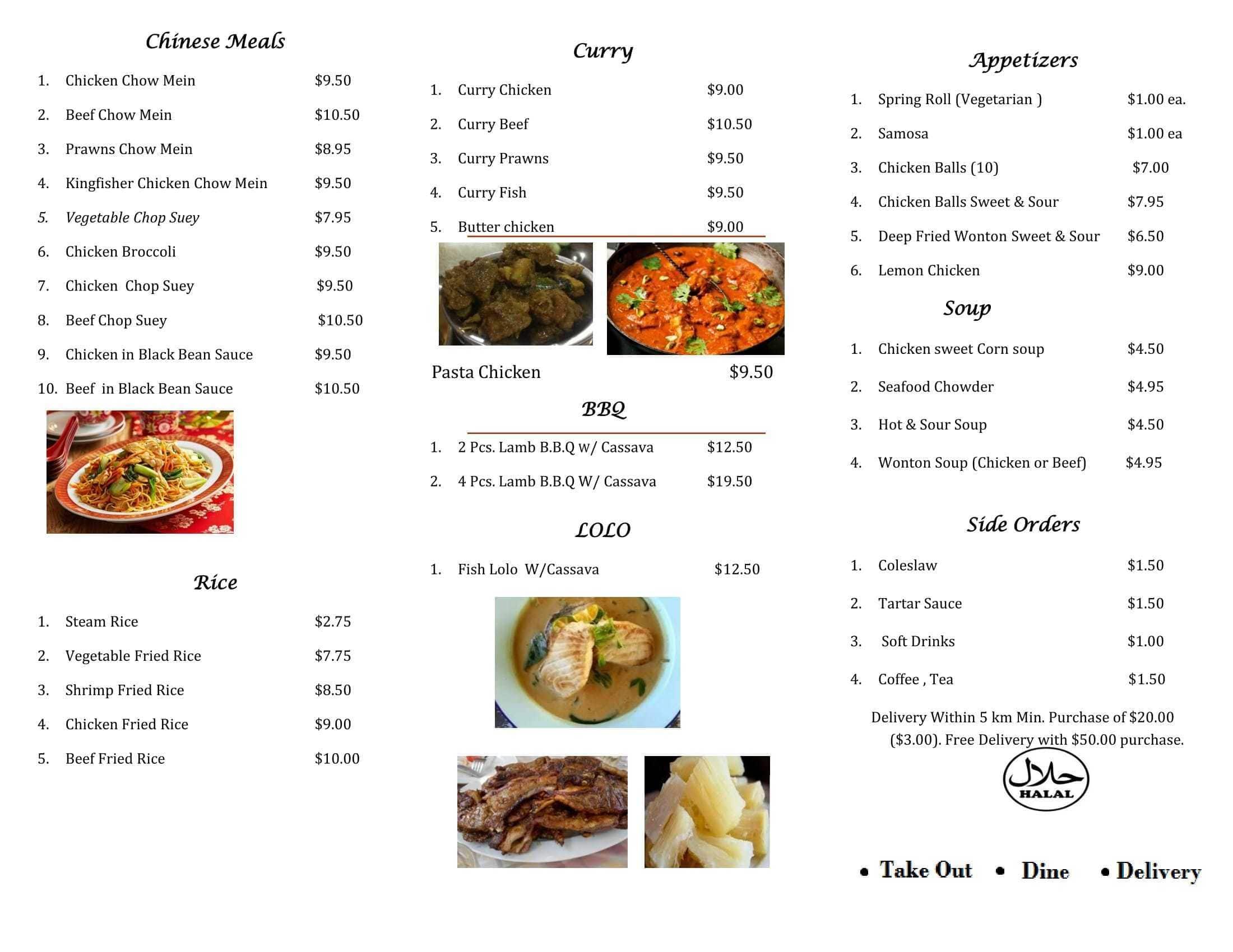 Kingfisher fish chips menu urbanspoon zomato for Two fish menu