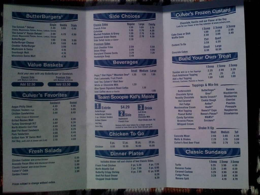 culver u0026 39 s menu  menu for culver u0026 39 s  jeffersontown