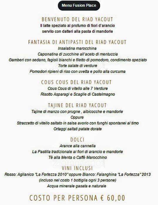 Riad Yacout Menu Menu For Riad Yacout Porta Romana Milano
