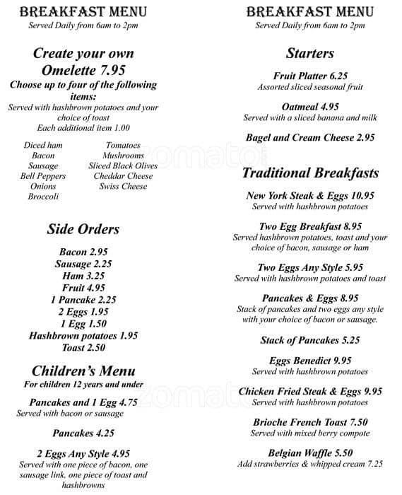 Emerald Queen Casino Restaurant Menu