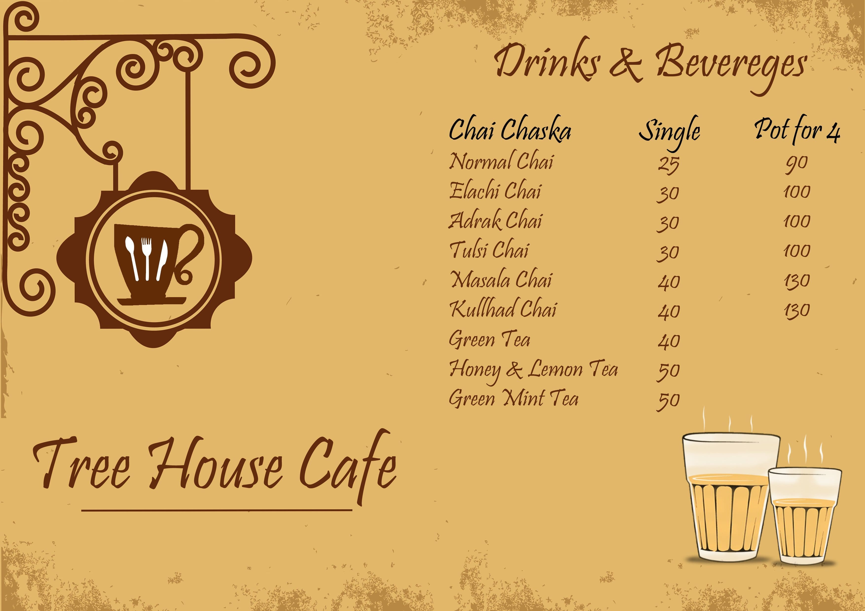 Tree House Jaipur Intended Tree House Cafe Menu Menu For Cafe Tonk Road Jaipur