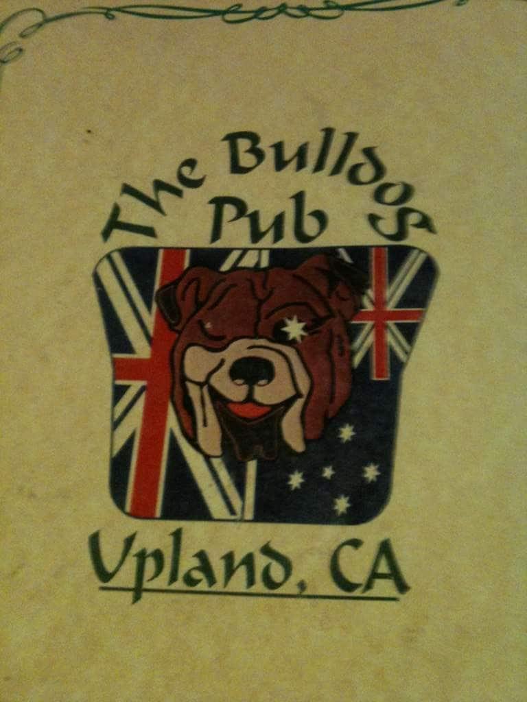 Bulldog Pub Restaurant Upland Menu