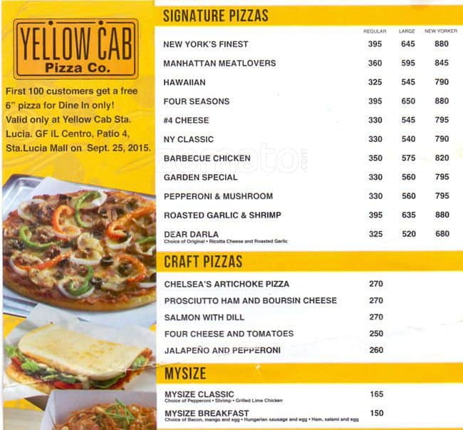 Delivery Online: Online Delivery Yellow Cab