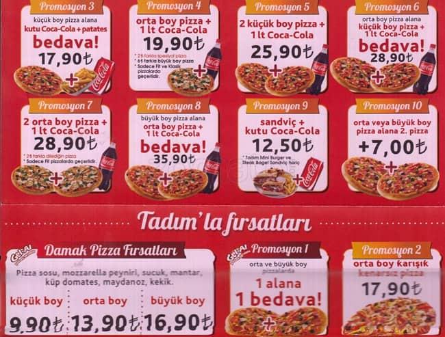 Tadım Pizza Menü Tadım Pizza Kızılay Ankara Için Menü Zomato