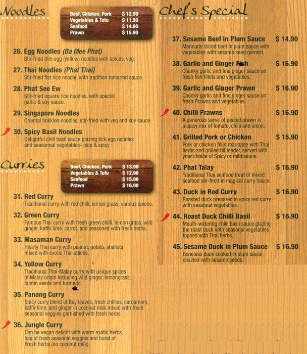 Menu at Asian Kitchen, 289 Racecourse Rd - Restaurant prices