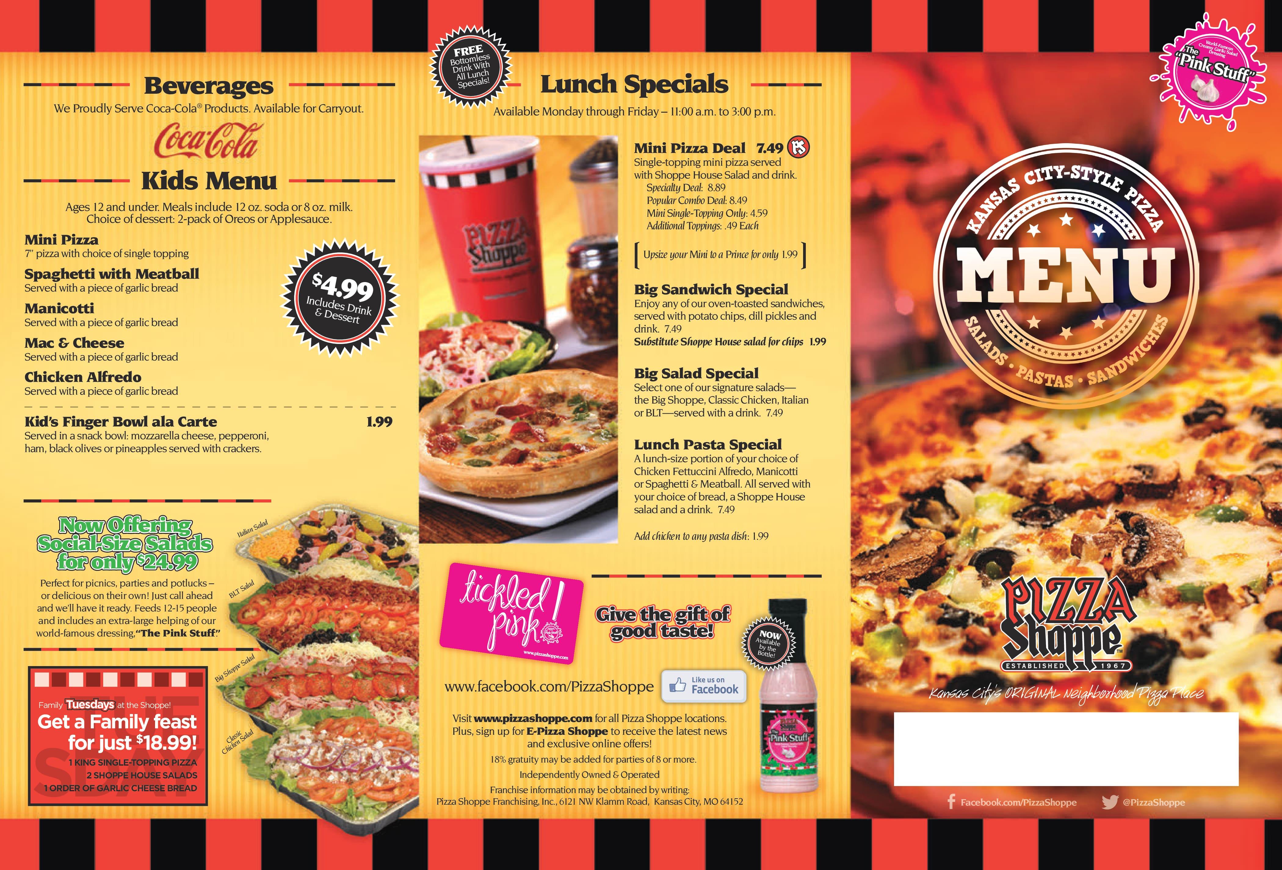 Pizza shoppe platte woods