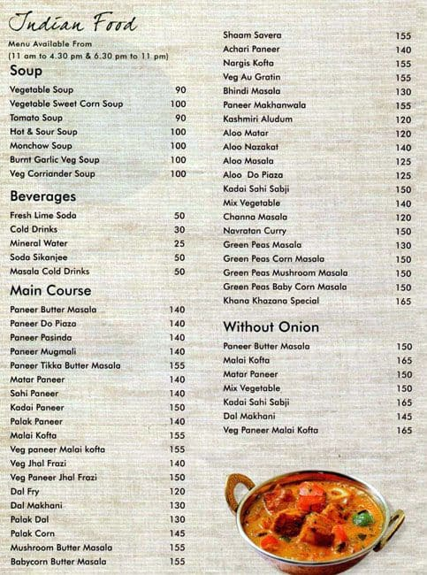Khana khazana menu menu for khana khazana dobson road howrah zomato khana khazana forumfinder Gallery