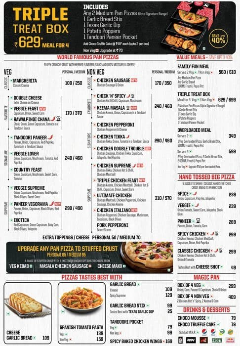Pizza Hut Menu, Menu for Pizza Hut, Aminijikarai, Chennai ...