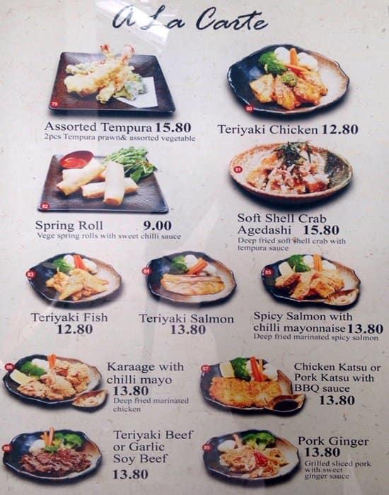 Sushi Cafe Maido Menu