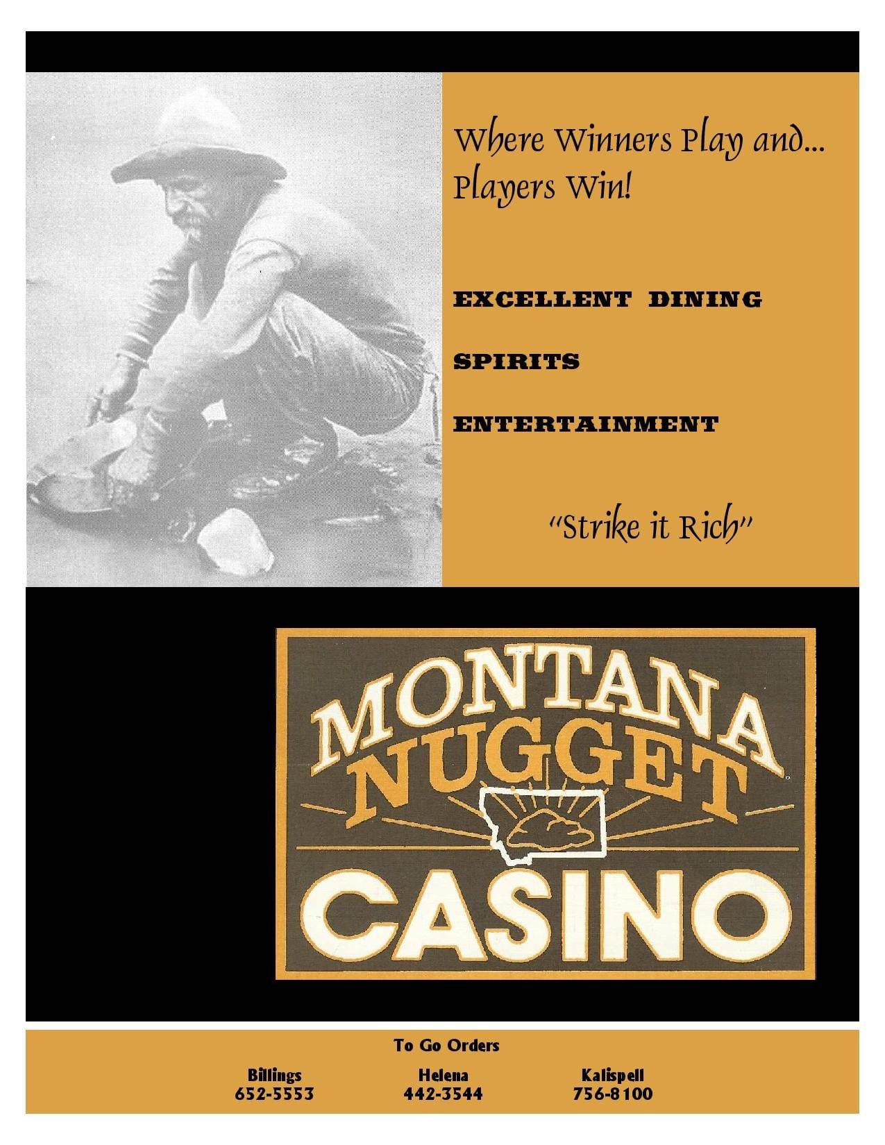 Montana nugget casino menu creek casino in michigan