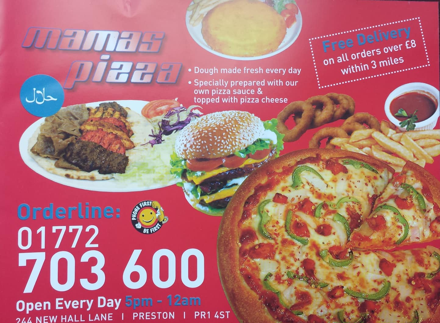 Mamas Pizza Menu Menu For Mamas Pizza Preston North West