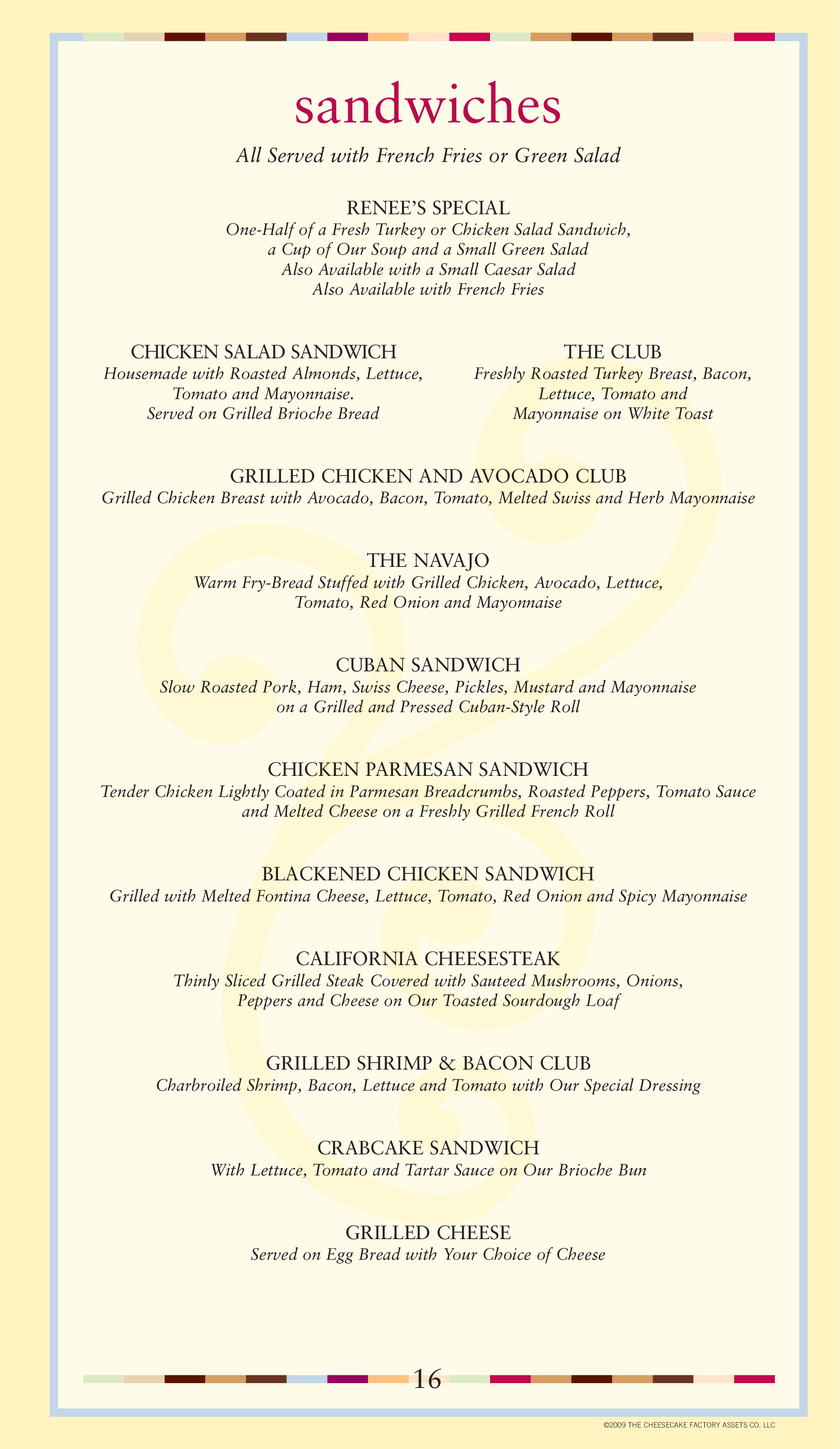 photo relating to Printable Cheesecake Factory Menu called Menu at The Cheesecake Manufacturing facility desserts, Columbus, Townsfair Direction