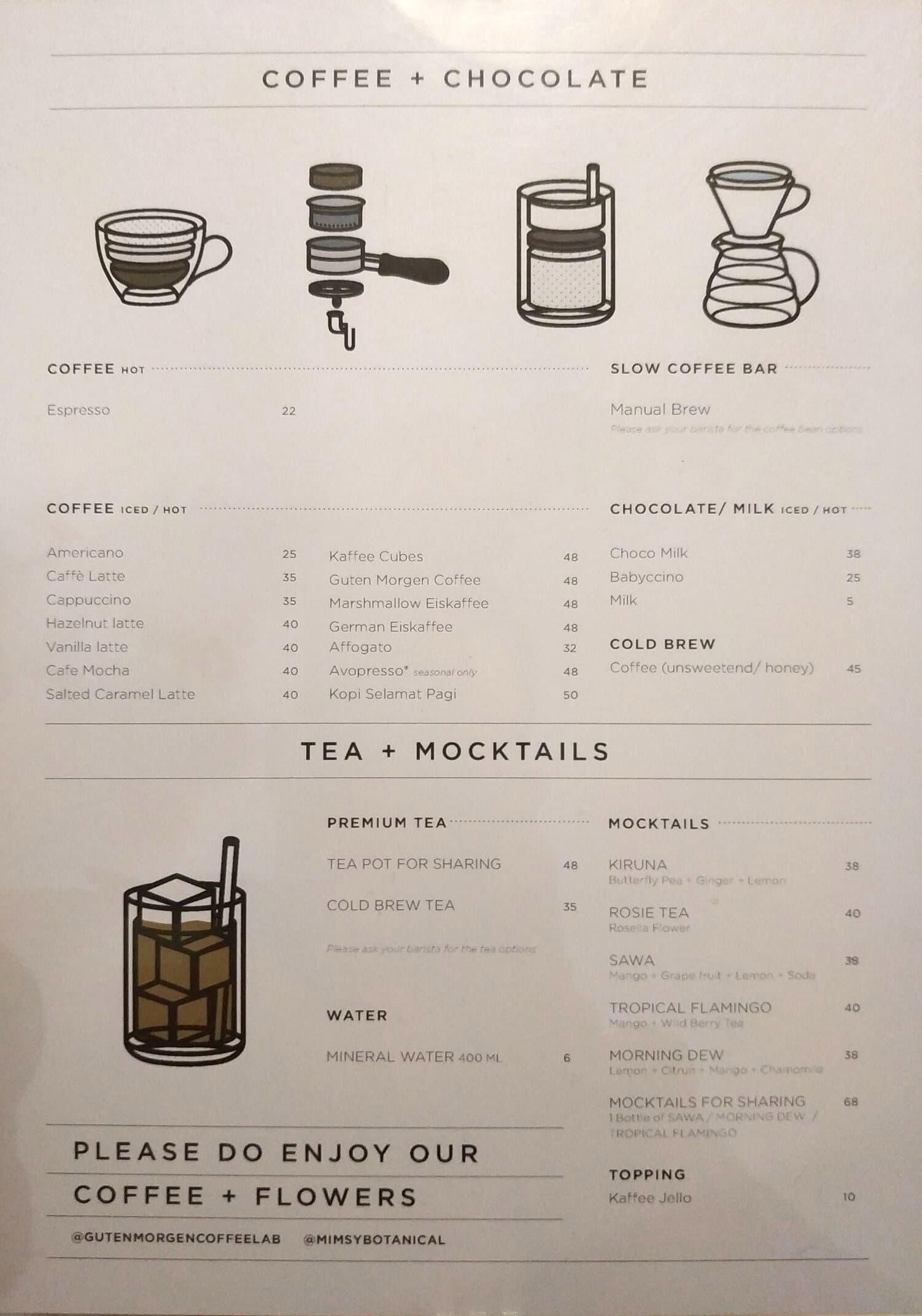 Guten Morgen Coffee Lab Shop Menu Zomato Indonesia
