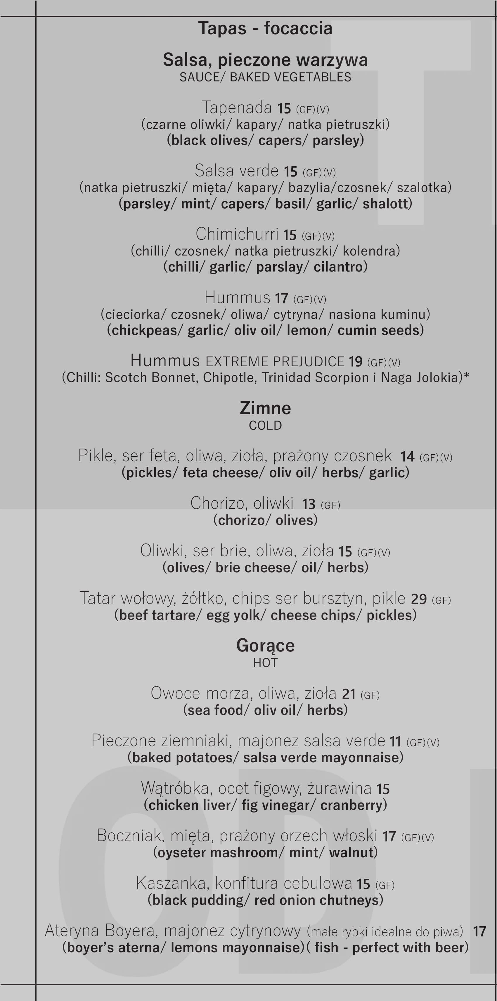 Menu At Tęcza Od Kuchni Pub Bar Warsaw