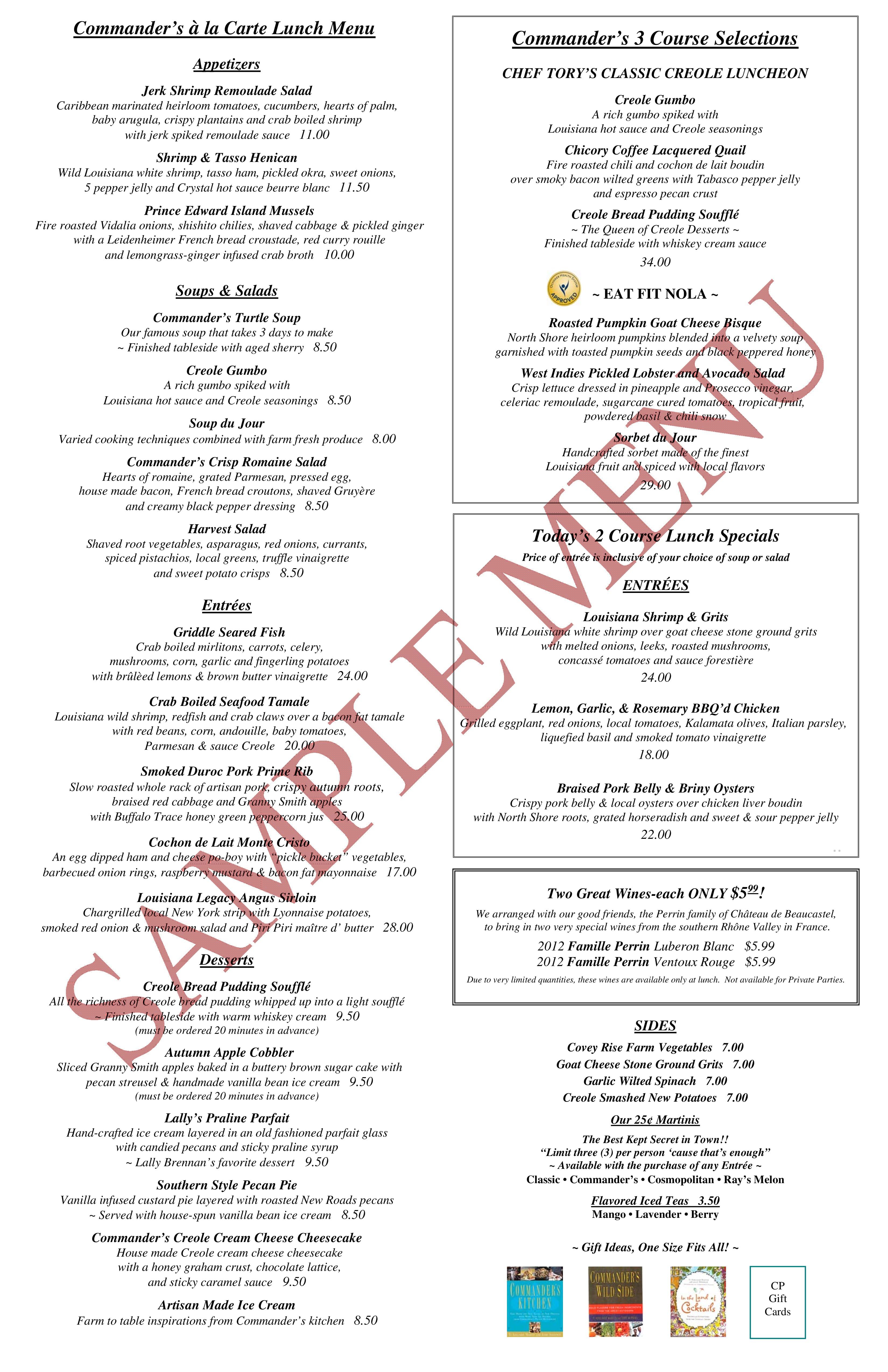 Commander Restaurant New Orleans