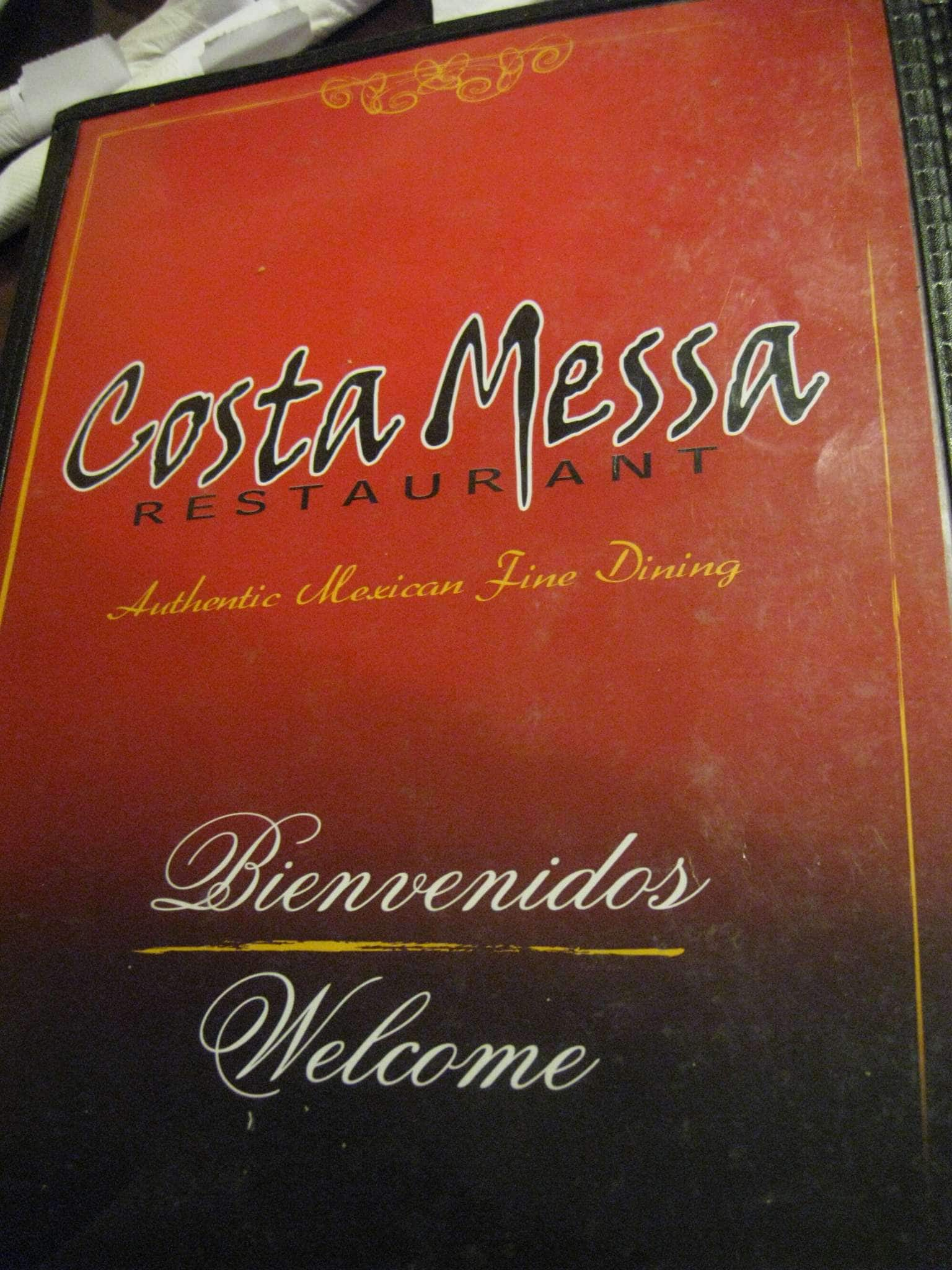 Costa Messa Restaurant Menu Menu For Costa Messa Restaurant