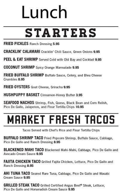 Flying fish public market grill menu urbanspoon zomato for The flying fish menu