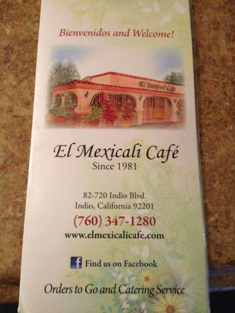 El Mexicali Restaurant Menu Menu For El Mexicali Restaurant