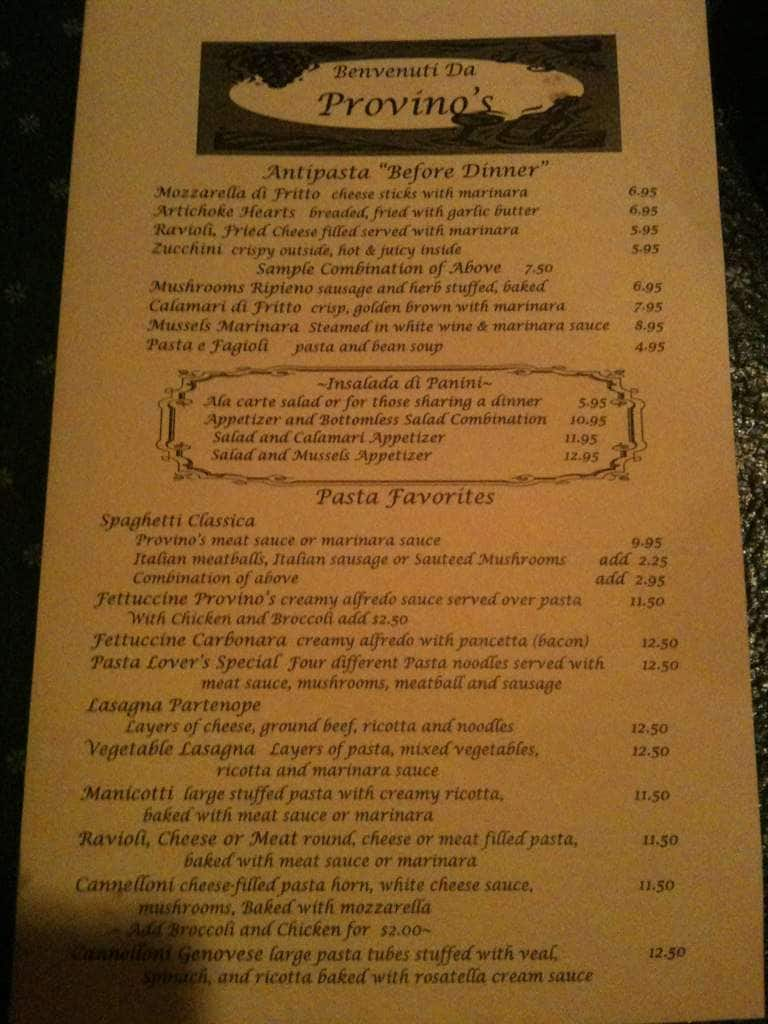 Venditori S Italian Restaurant Auburn Menu